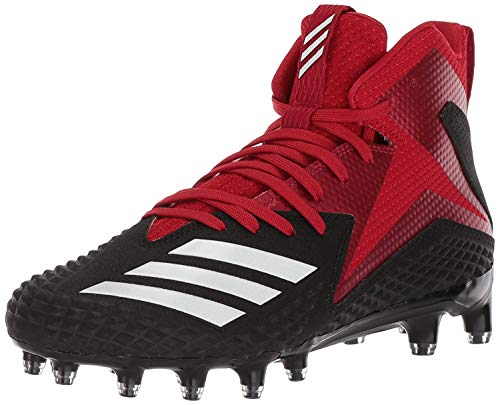 Carbon Mid Football Shoe, Black/White/Power red, 11 M US ()