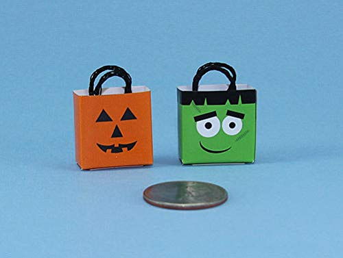 (Dollhouse & Miniature Dolls' Houses Miniature 1:12 and 1:24 Scale Adorable Set of 2 Halloween Trick or Treat Bags Welcome to Minimum World Welcome to Minimum World)
