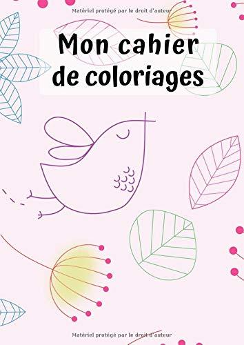 Mon Cahier de Coloriages: Nature No. 1 30 Pages Blanc Idée Cadeau