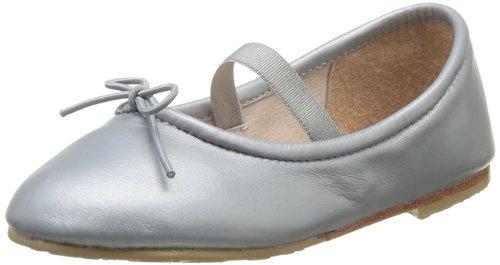 Bloch Toddler Arabella Bt444 - Bailarinas de piel para niñas, color blanco, talla 21 Plateado (Argent (Argento))