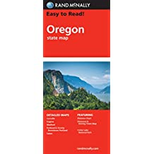 Easy To Read: Oregon State Map (Rand McNally Easy to Read!)