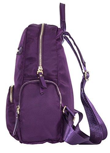 Big Handbag Shop - Bolso mochila  de tela para mujer Design 1 - Elctric Blue