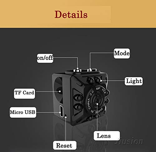 Amazon.com : Smallest hd 1080p Mini Camera Micro cam Digital Voice Video Recorder Night Vision Camcorder for Sport Action Nanny Helmet Bike : Camera & Photo
