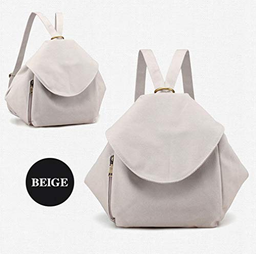 Backpack Large Purse Canvas Handbags Women Multifunctional Capacity Fashion Backpack Casual Beige Backpack ZHw8vqxw