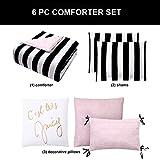 Juicy Couture Cabana Stripe Reversible Bedding Set