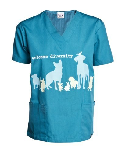 Dog is Good Welcome Diversity Unisex Scrub Top (2XL)