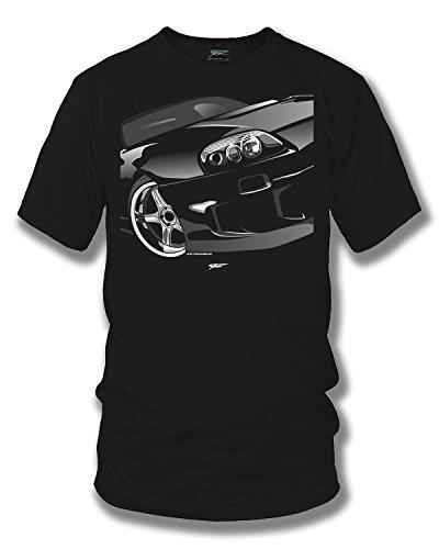 - Wicked Metal Supra Shirt, Tuner Car Shirt, Import Car Black