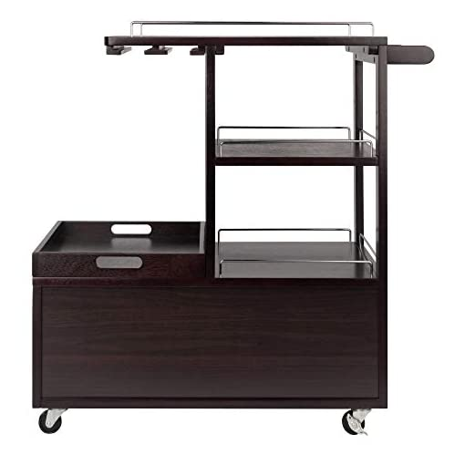 Home Bar Cabinetry Winsome Wood Galen Entertainment Cart home bar cabinetry