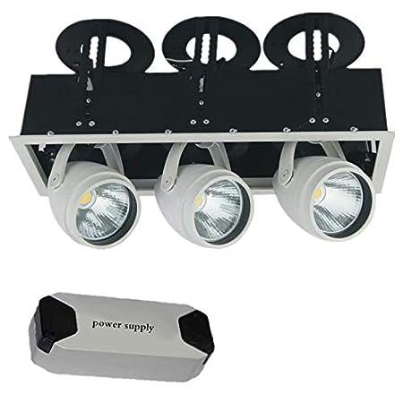 Aione 20w-24w LED de Interior de 3 Cabezas Proyector Luz de Techo ...