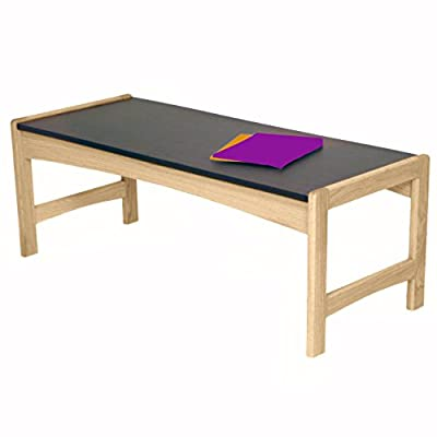 Wooden Mallet DT2-BG Coffee Table with Black Granite Look Top, Mahogany - Dakota Wave by Wooden Mallet offers this solid oak coffee table that will be a thoughtful addition to your office furniture Stylish, economical, and durable, this table stands up to the heavy use of a busy office environment Tasteful, contemporary styling coordinates with any décor - living-room-furniture, living-room, coffee-tables - 41pu0lQ%2BcxL. SS400  -