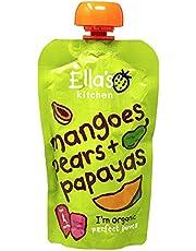 Ella's Kitchen Organic Puree, Mangoes, Pears And Papayas, 120g (Pack of 1)