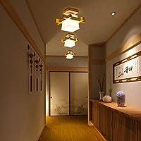ZY Armario Luces de techo Estilo chino Corredor Lámparas de madera ...