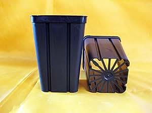 Vasos de plástico cuadrados de 8 x 8 x 12 cm (n.525) unidades, diseño de Arca empresa