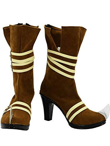 GOTEDDY Girl Harley Booties Halloween Cosplay Bottine Clown Boots Costume Shoes]()