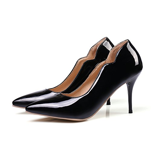 Formal Pointed Dress On Pumps Womens Stilettos Rongzhi Toe Heels High Party Black Slip Shoes PzxqAB
