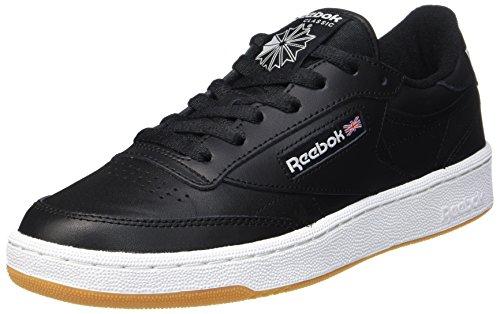 Hombre C Reebok White gum para Zapatillas black 85 Intense Club 0 Negro R1wqwpO