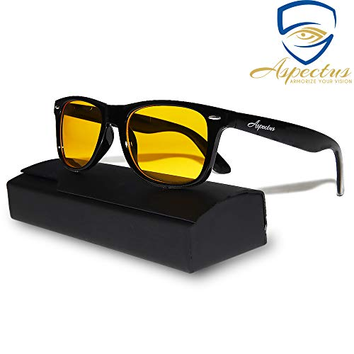 Aspectus Blue Light Blocking Glasses | Premium Gamer & Computer Eyewear | Anti-Blue Light Lenses for Deep Sleep & Relaxation | Eye Strain Relief Anti Glare Glasses | Computer Glasses for Men & Women
