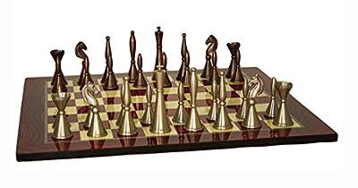 Solid Brass Art Deco Chess Set