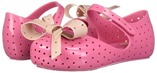 Pictures of Mini Melissa Girls' Mini Furadinha XI Ballet Flat, Pink, 10 Medium US Toddler 4