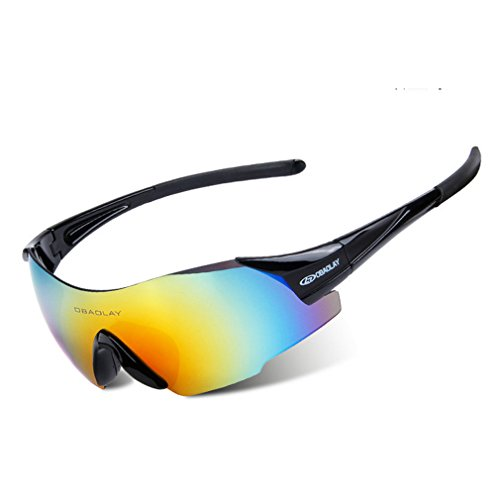 G&T New Cycling Outdoor Glasses Rimless Colorful Sport Goggle Sunglasses(C5) ()