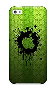 Durable Defender Case For Iphone 5c Tpu Cover(green Apples) by icecream design