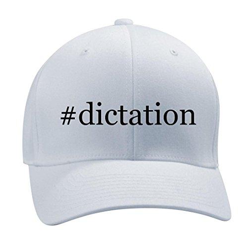 #dictation - A Nice Hashtag Men's Adult Baseball Hat Cap, White, Small/Medium