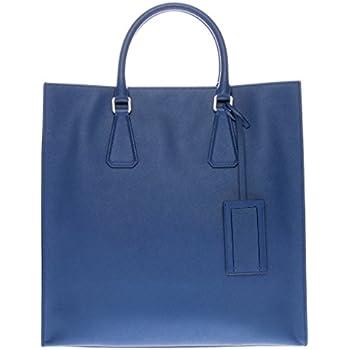 8c98cb4d24725a Amazon.com: Prada Women's Saffiano Travel Tote Bag Blue: Shoes