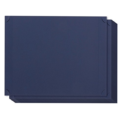 (Best Paper Greetings 24-Pack Certificate Holder - Diploma Holder, Single Sided Holder for Letter-Sized Award Certificates and Documents Display, navy, 11.2 x 8.8 Inches)