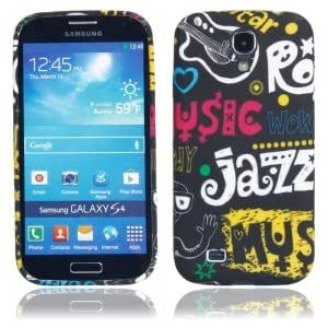 TPU Injection Protective Case with Black Bottom Colorful English Pattern for Samsung S4 i9500