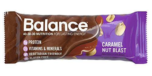 Blast Bar Nut Caramel Balance (Balance Bar, Healthy Protein Snacks, Caramel Nut Blast, 1.76 oz, 6 Count)