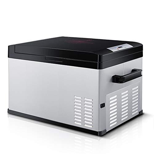 Tx- Litre Portable Digital Display Compressor Fridge Freezer, 12 V/24 V/220V - Grey/Black (Size : 30L)