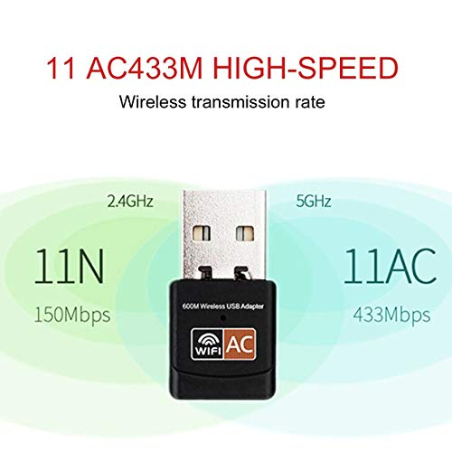 2.4GHz 5GHz Wireless Wifi Adapter Computer Network Card AC600Mbps USB WiFi Aerial Dual Band Mini PC WiFi Adapter