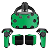 MightySkins Protective Vinyl Skin Decal for HTC Vive wrap cover sticker skins Solid Green