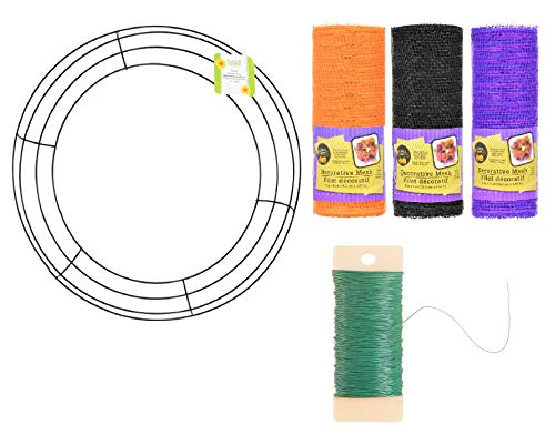 Holloween DIY Mesh Wreath Kit - Includes 14.25
