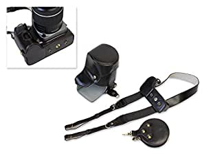 DSstyles Bottom Apertura funda de piel bolsa de la cámara bolsa de cuero para Pentax K-S2Cámara con 16-Lente de 85mm/50-1200mm