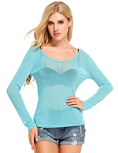 meaneor-women-long-sleeve-mesh-sheer-see-through-clear-blue-l