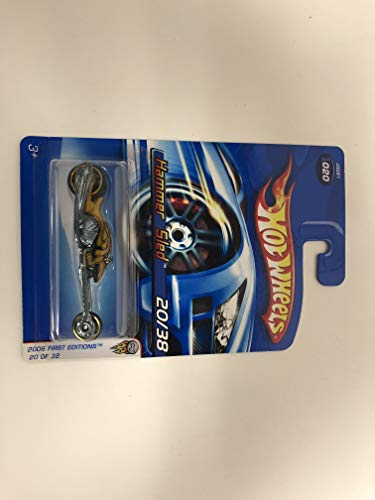 Motorcycle Hammer (Hammer Sled Motorcycle No. 020 Hot Wheels 2006 First Edition diecast 1/64 scale)