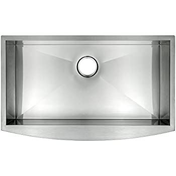 "AKDY 30"" x 20"" x 9"" 18 Gauge Handmade Stainless Steel Undermount Apron Single Bowl Kitchen Sink"