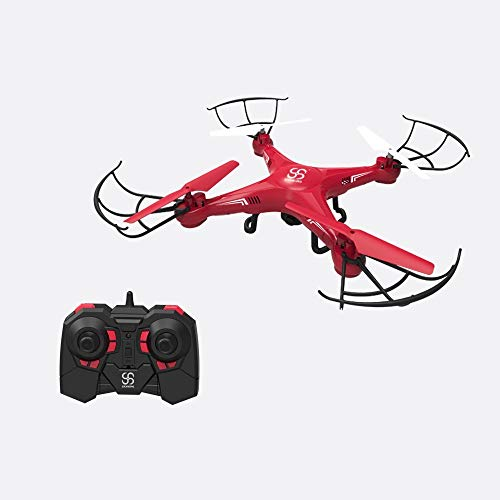SKYKING Quadcopter Drone Remote Control Drone with Camera S-08C RC Quadcopter with Photo Taking and Video Recording and 3D Flips Headless Mode,with SD Card 6 Axis Gyro for Kids Beginners Adults