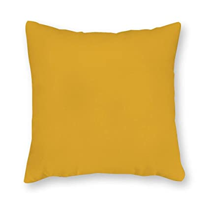 Yellow Outdoor Throw Pillows.Fabricmcc Sunflower Yellow Outdoor Throw Lumbar Pillow Cover Solid Yellow Sunbrella Canvas Pillow Cover Yellow Zipper Pillow Cover 20 X 20 Inch