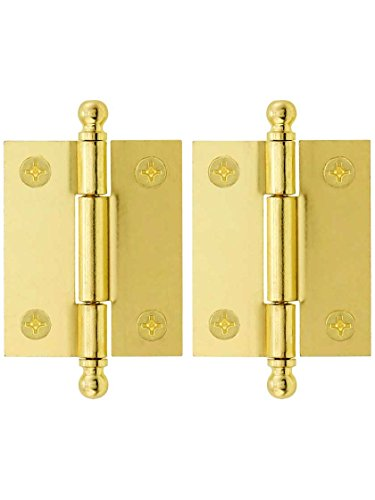 (Pair of Loose Pin Plated Steel Cabinet Hinges - 1 15/16