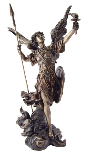 amazon com archangel st uriel statue archangel of salvation