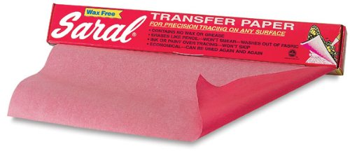 - RED SARAL Wax-Free Transfer (Tracing) Paper for Precision Tracing on Any Surface-12 inches x 12 Foot roll