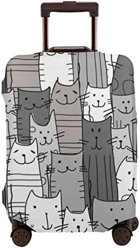 荷物カバー スーツケースカバー トランクカバー ラゲッジカバー 防塵カバー 面白い 猫柄 キャリーケースカバー 保護伸縮素材 アウトドア 通勤 通学 超軽量 4サイズ 旅行 出張 耐久性 汚れ 傷 防止 盗難防止 おしゃれ 可愛い