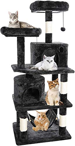 57.1 Inches Multi-Level Cat Tree Tower with Scratching Posts Perch Hammock Pet Furniture Kitten Activity Tower Kitty…