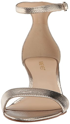 Gold Leisa West Nine Sandal Metallic Natural Heeled Women's Metallic Medium qBn1xOv