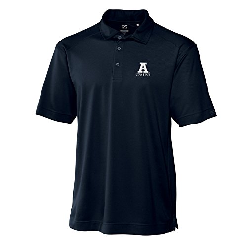 Cutter & Buck NCAA Utah State Aggies Men's Genre Polo Tee, Navy Blue, - Utah Golf State Aggies