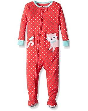 Baby Girls' 1-Piece Snug Fit Cotton Pajamas
