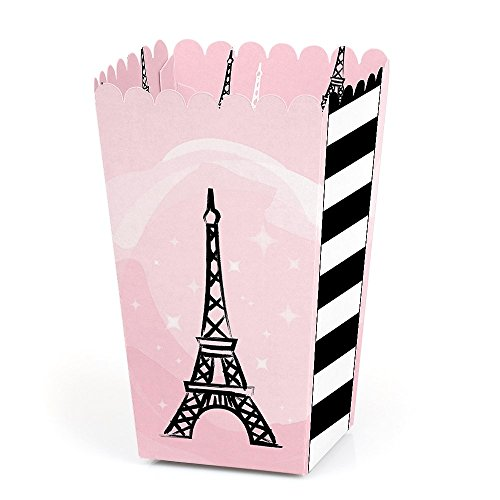 Paris, Ooh La La - Paris Themed Baby Shower or Birthday Party Favor Popcorn Treat Boxes - Set of 12 -
