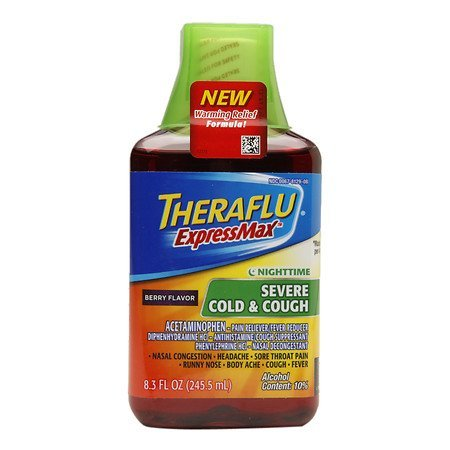 THERAFLUE SEVER COLD & COUGH EXPRESS MAX BERRY FLAVOR NIGHTTIME 8.3 OZ by THERAFLU at The Neighborhood Corner - At Stores Somerset